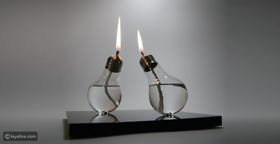 19 فكرة مذهلة للأستفادة من المصابيح القديمة