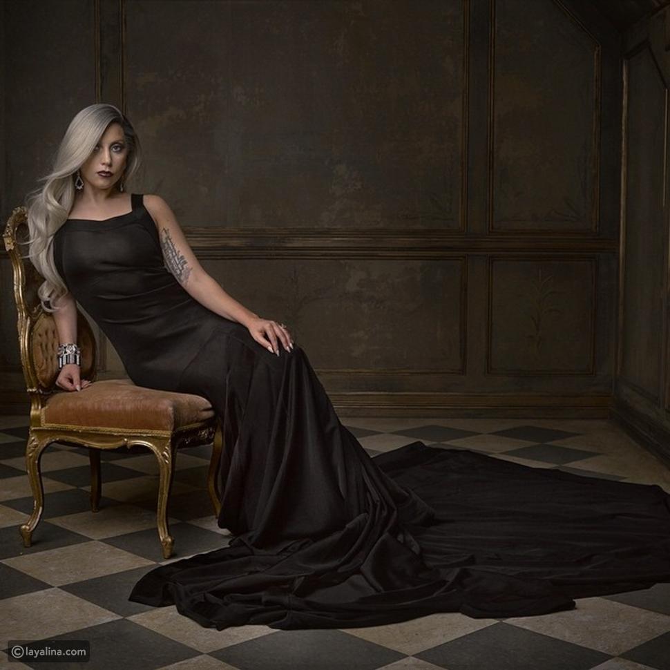 صور ليدي غاغا تصدم جمهورها بإطلالة أنيقة بعد الأوسكار في حفل Vanity Fair