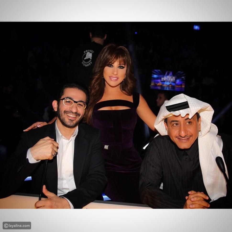 صور نجوى كرم بإطلالة مخملية صنعت خصيصاً لها في Arabs Got Talent