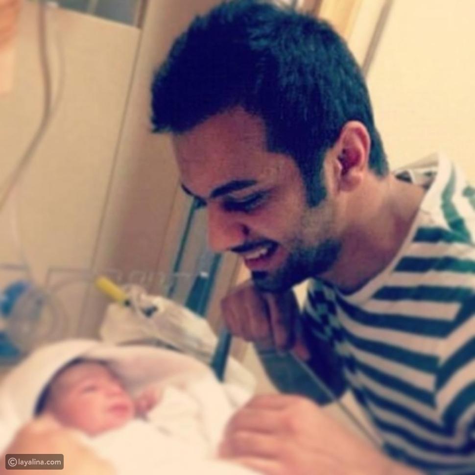 بالصور هند البلوشي ومشاري العوضي يرزقان بمولودتهما الأولى