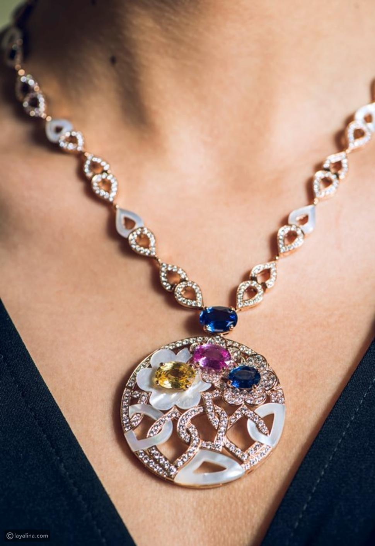 مجوهرات Bvlgariتحف فنية تنبض بعشق الألوان
