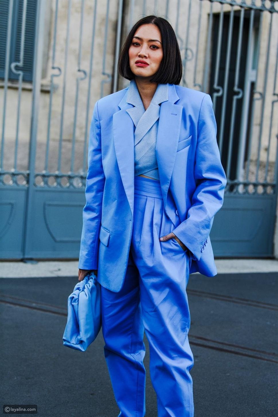 حقيبة باللون الأزرق