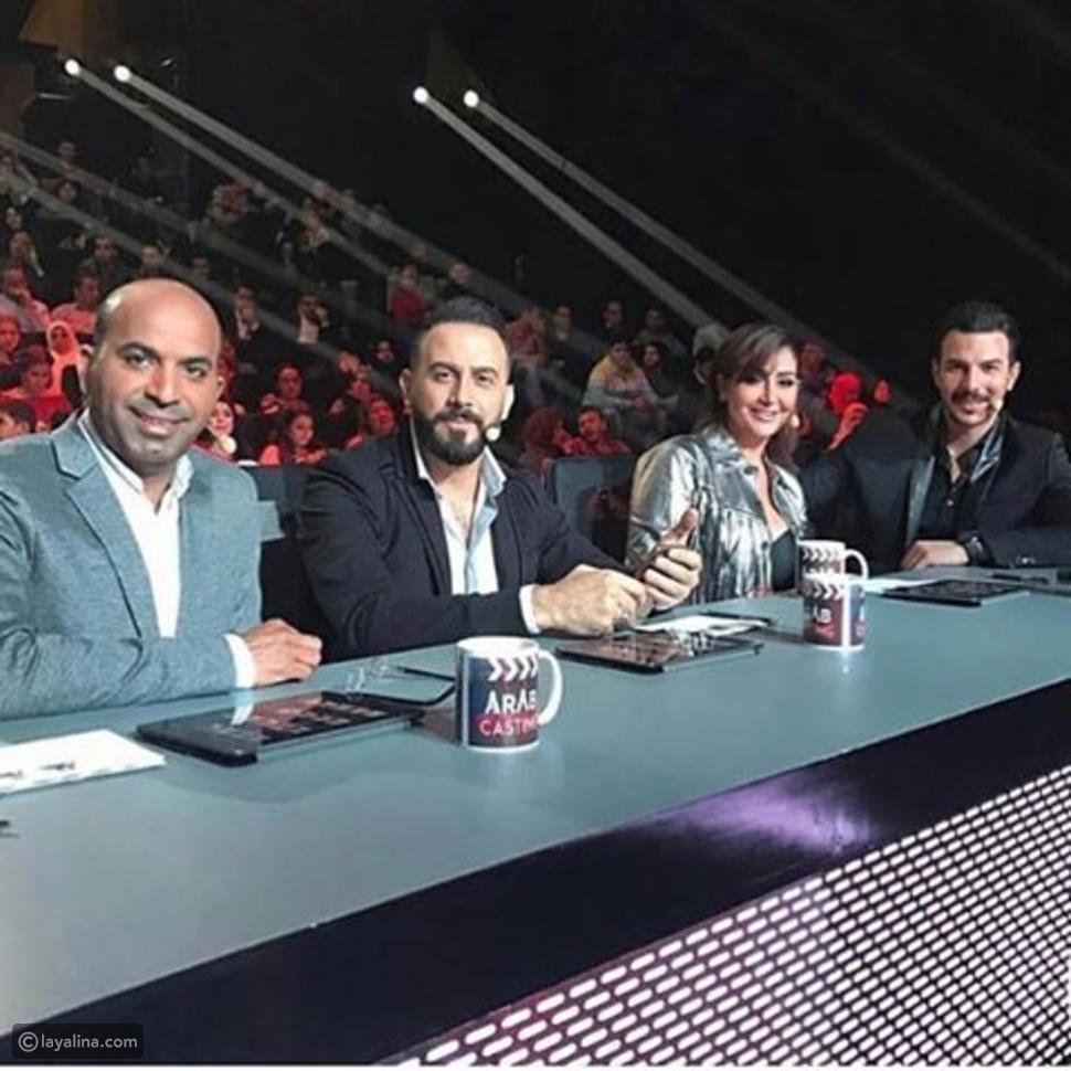 غادة عبد الرازق مع لجنة تحكيم اراب كاستينج