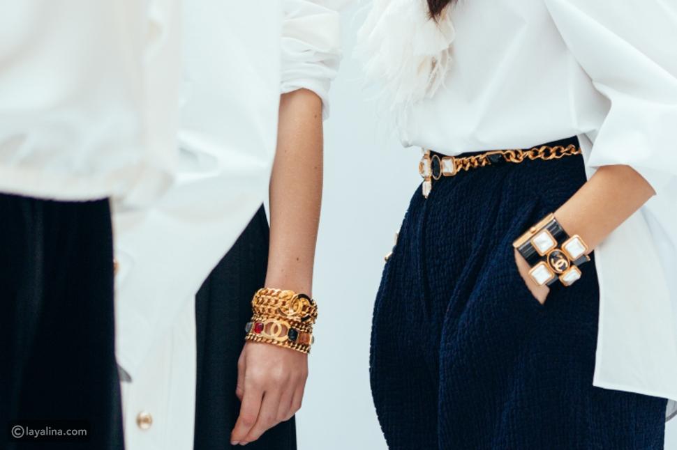 الأساور العريضة من مجكوعة Chanel