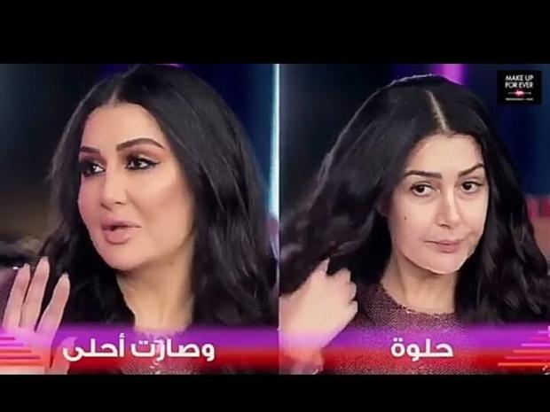 غادة عبد الرازق قبل وبعد المكياج