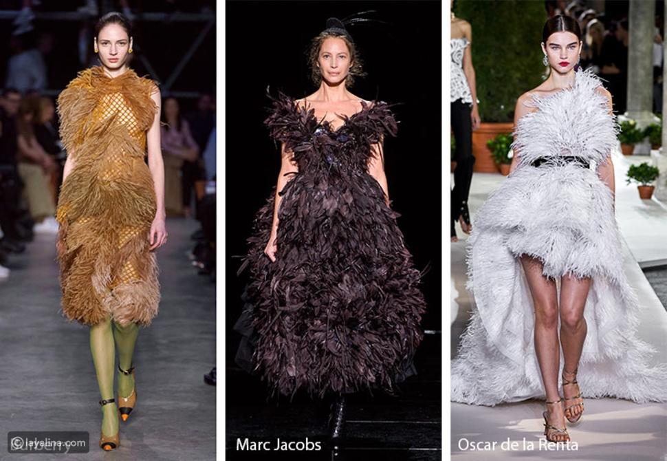 الريش Feathers في عروض الأزياء