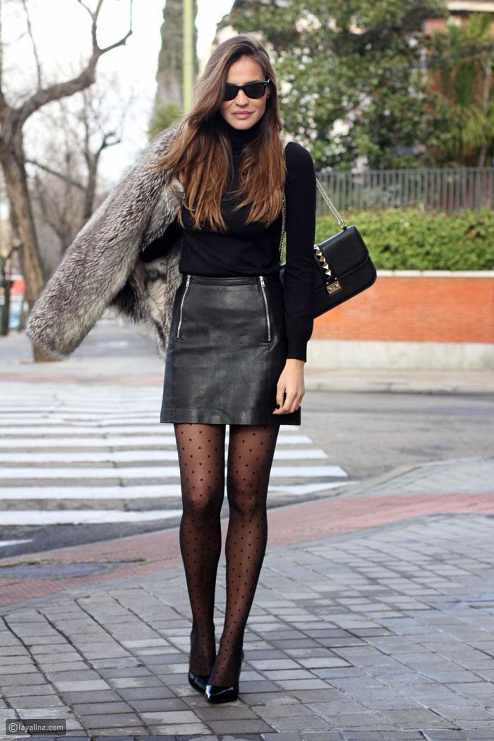 تنورة من الجلد Leather Skirt