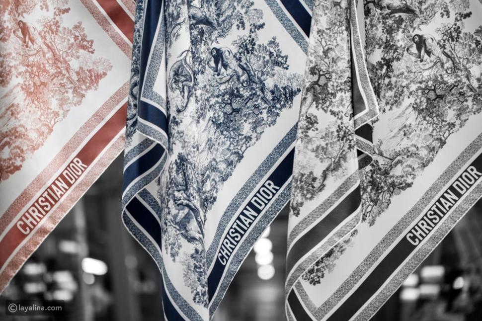 أوشحة Diorالحريرية الجديدة