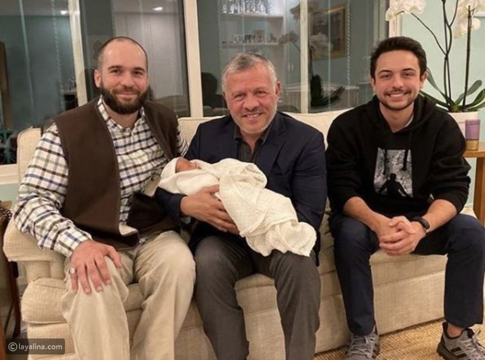 الأمير هاشم مع ابنه الخامس