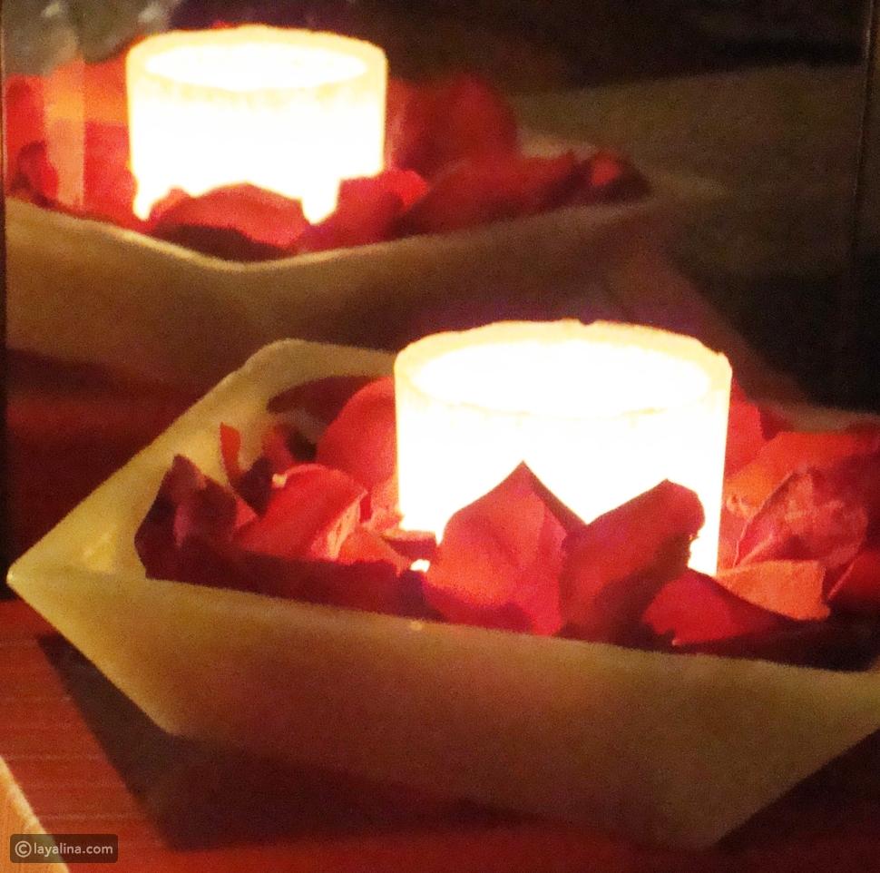 تشكيلة الشموع في عيد الحب لمصممة الشموع غادة كريم