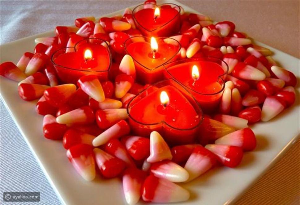 بالصور: أفكار لديكور مائدة عشاء رومانسي ليلة عيد الحب