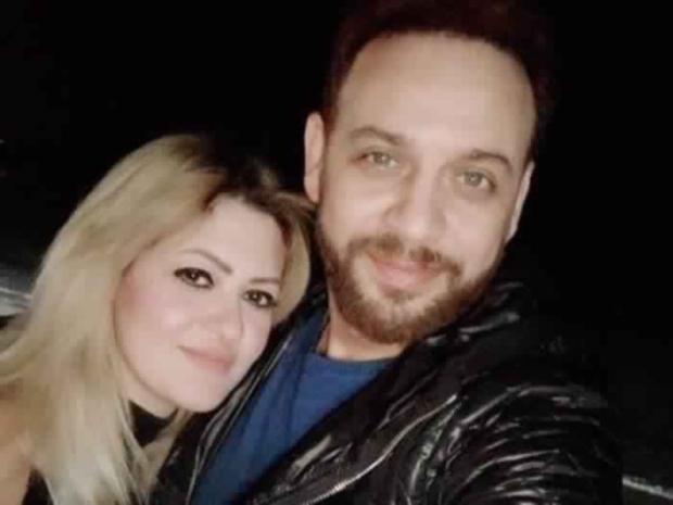 مصطفى قمر مع زوجته الجديدة