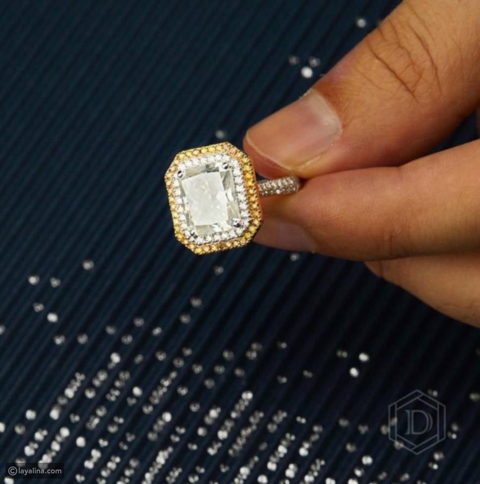 صورة لخاتم ياسمين صبري الذي أهداه إياه أحمد أبو هشيمة