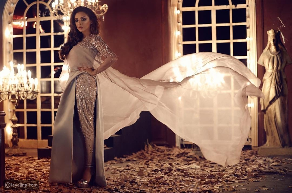 فستان أنغام من تصميم رامي العلي