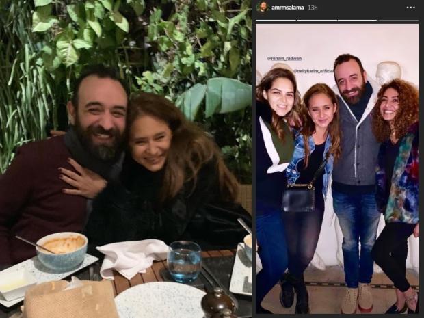 تعدد لقاءات نيللي كريم والمخرج عمرو سلامة يشعل التساؤلات