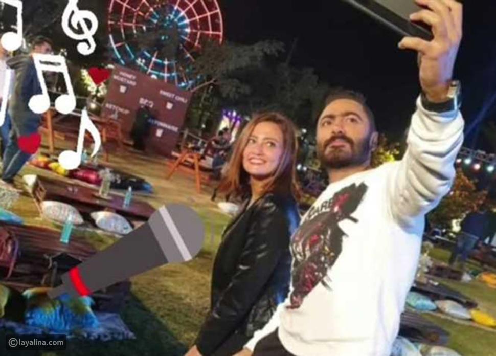 """الظهور الأول لـ""""تامر حسني"""" بعد إعلان زوجته الانفصال عنه"""
