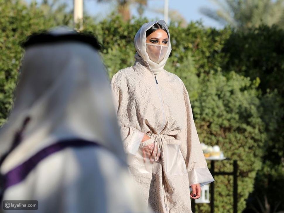 عرض أزياء الأميرة السعودية صفية حسين يقدم عباءات خلابة