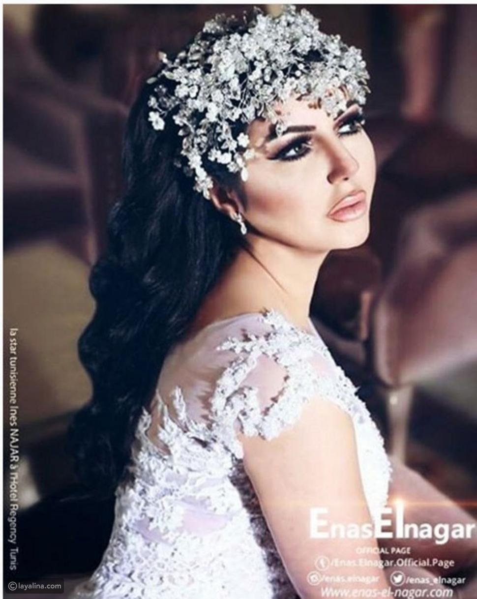 رغم طلاقها إيناس النجار تنشر صورة بفستان الزفاف