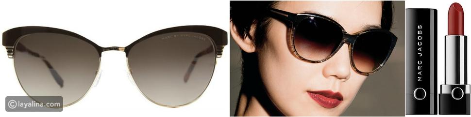 تكامل النظارات الشمسية من أحمر الشفاه