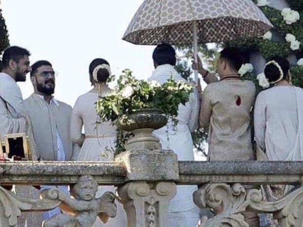 اللقطات الأولى من حفل زفاف رانفير سينغ وديبيكا بادوكون