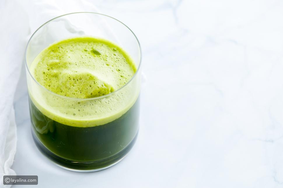 عصير الديتوكس الأخضر بالبقدونس