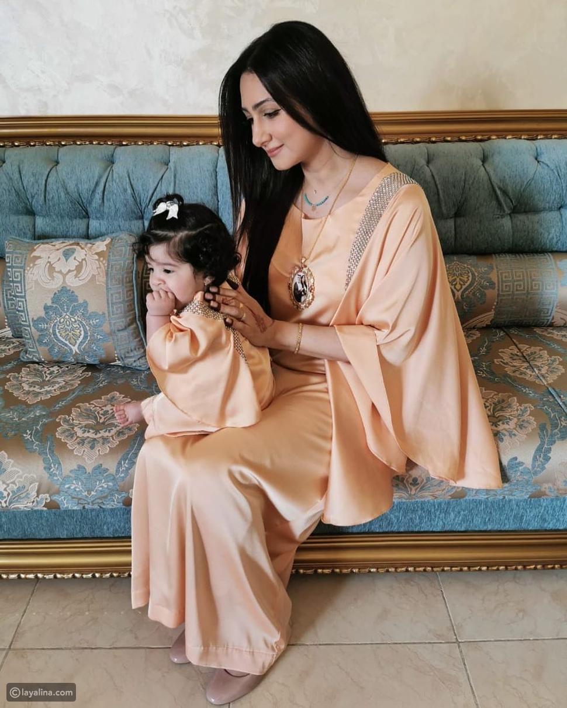هيفاء حسين مع ابنتها جواهر