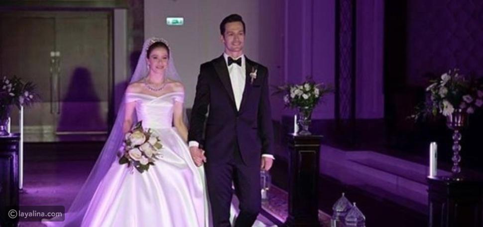 بورجو بيريجيك تخطف الأنظار بفستان زفاف رائع في مسلسل فتاة النافذة