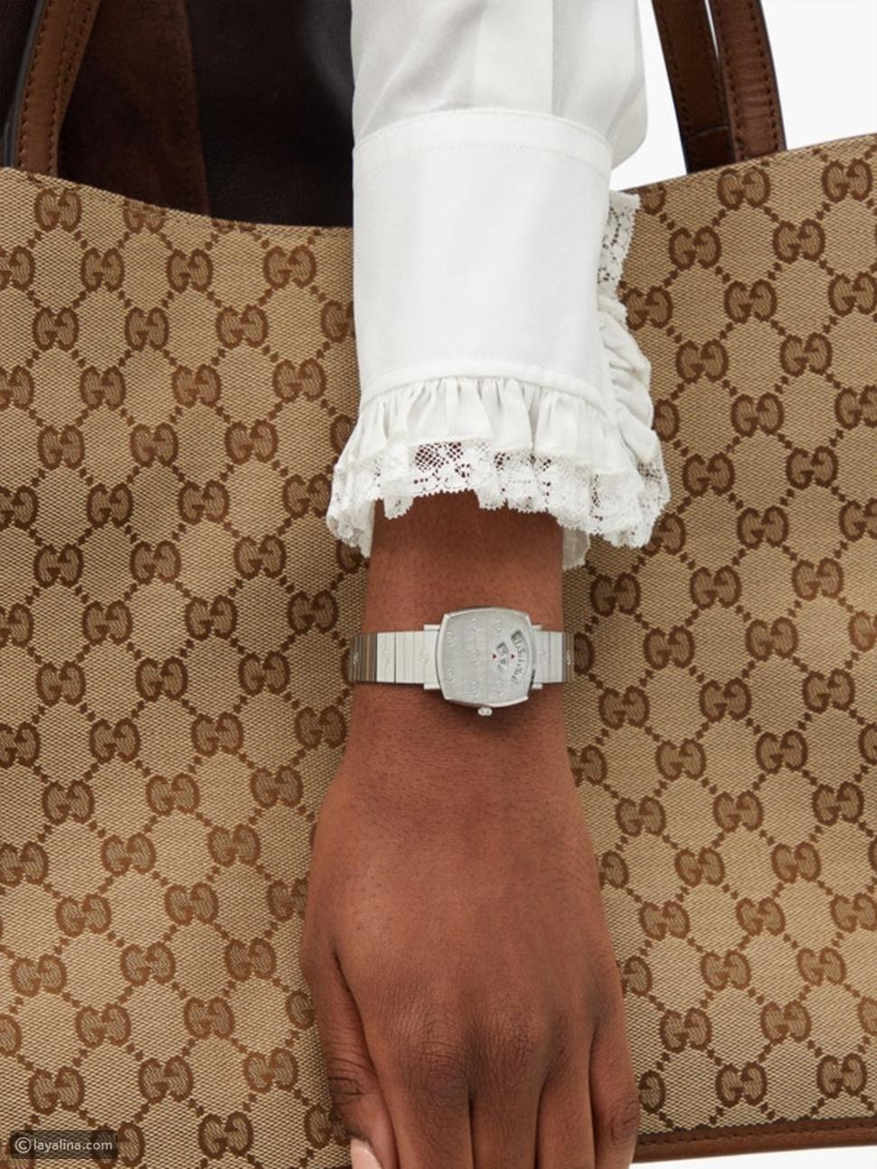 ساعة Gucci Grip بنافذة من الستانلس ستيلGucci Grip Two-Window