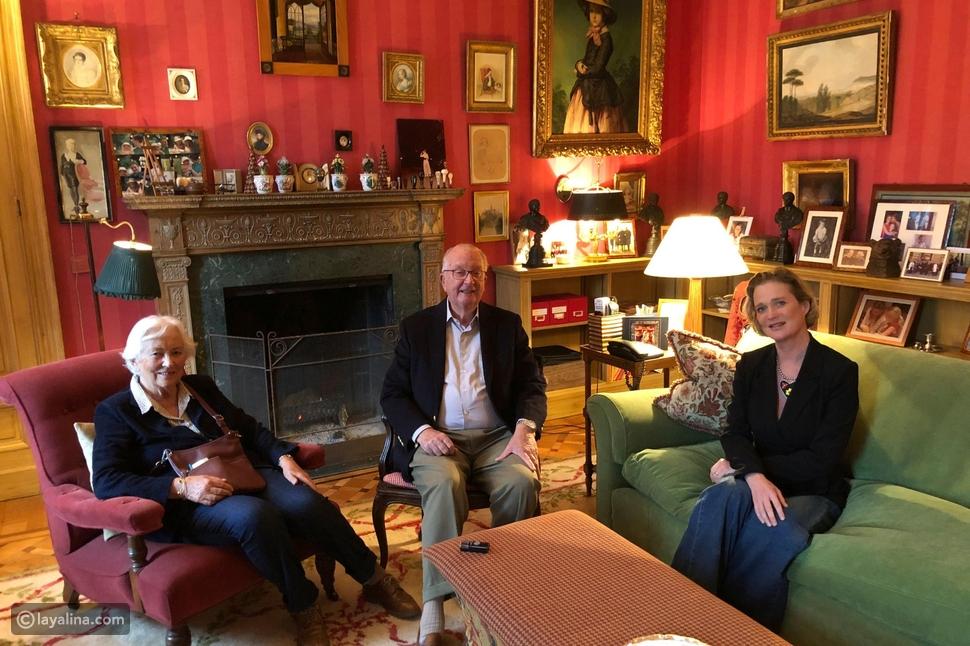 لقاء المصالحة بين ملك بلجيكا السابق وزوجته الملكة باولا وابنته دلفين بويل