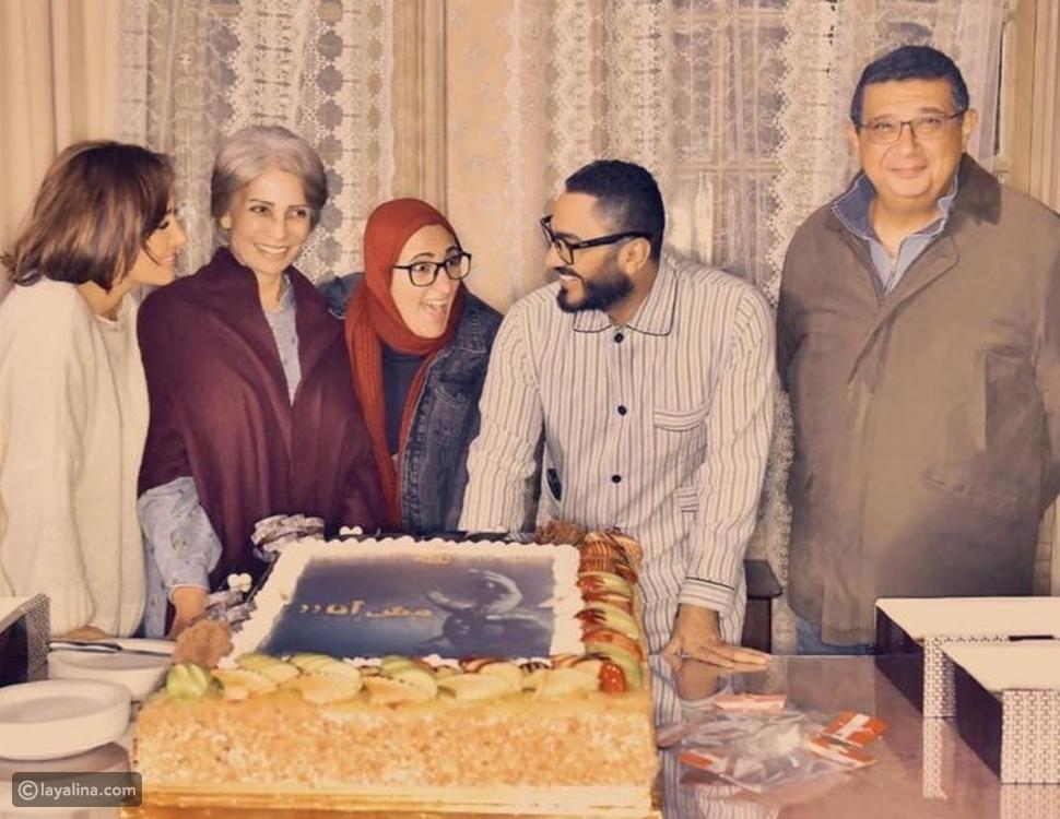 صور: كواليس تصوير فيلم مش أنا بطولة تامر حسني وحلا شيحة