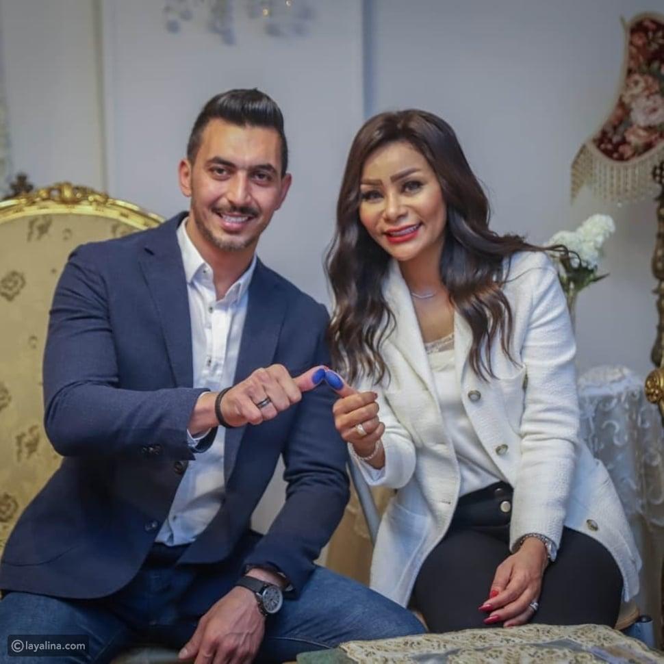 عقد قران شقيقة محمد رمضان