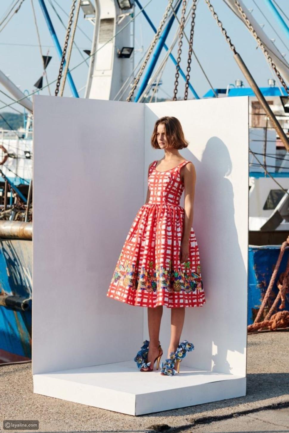فستان كوكتيل بتصميم ريتروRetro