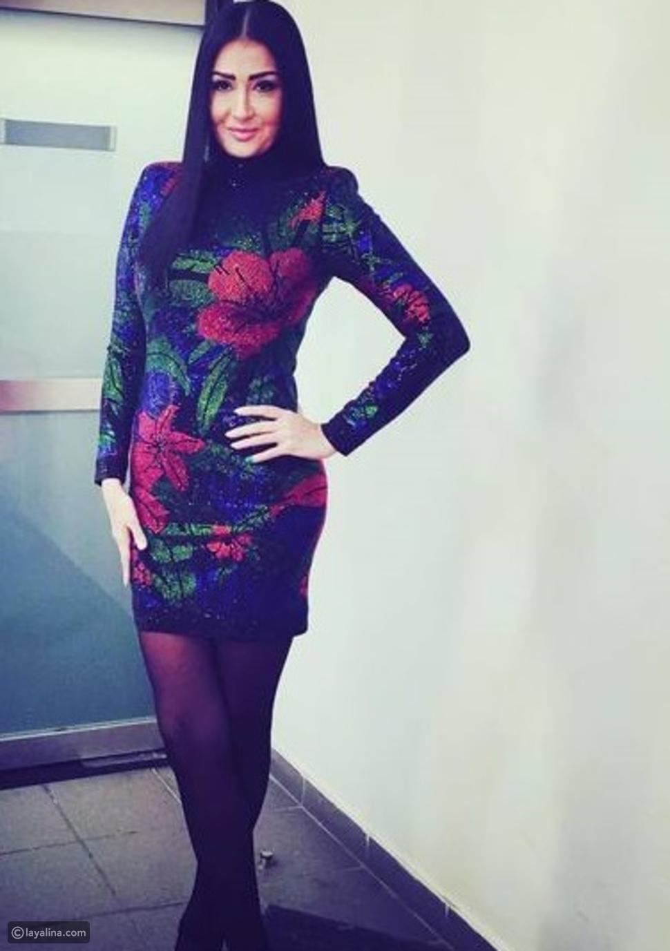 فستان غادة عبد الرازق من تصميم بالمان