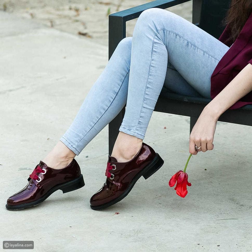 أحذية مسطة مكتنزة