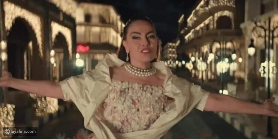 أزياء شريهان في أحدث إعلان: صُممت خصيصًا لها بتوقيع زهير مراد