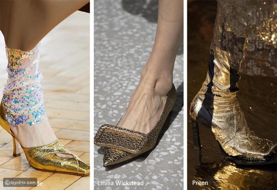 أحذية ذهبية