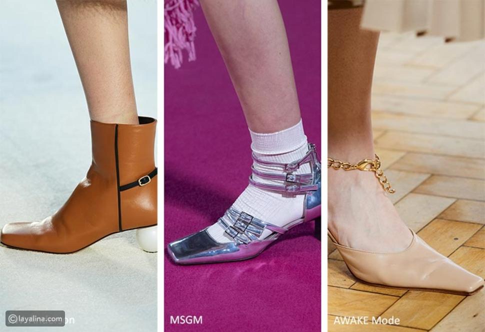 أحذية بتصميم مربع