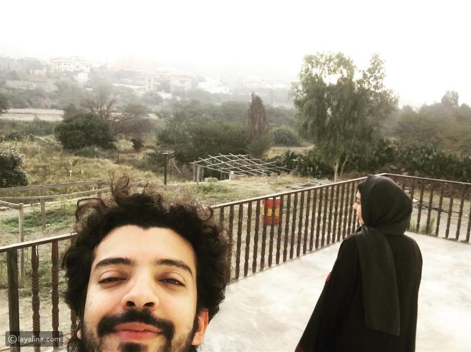 ليلى إسكندر مع زوجها في السعودية