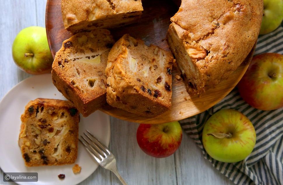 طريقة تحضير كيك التفاح