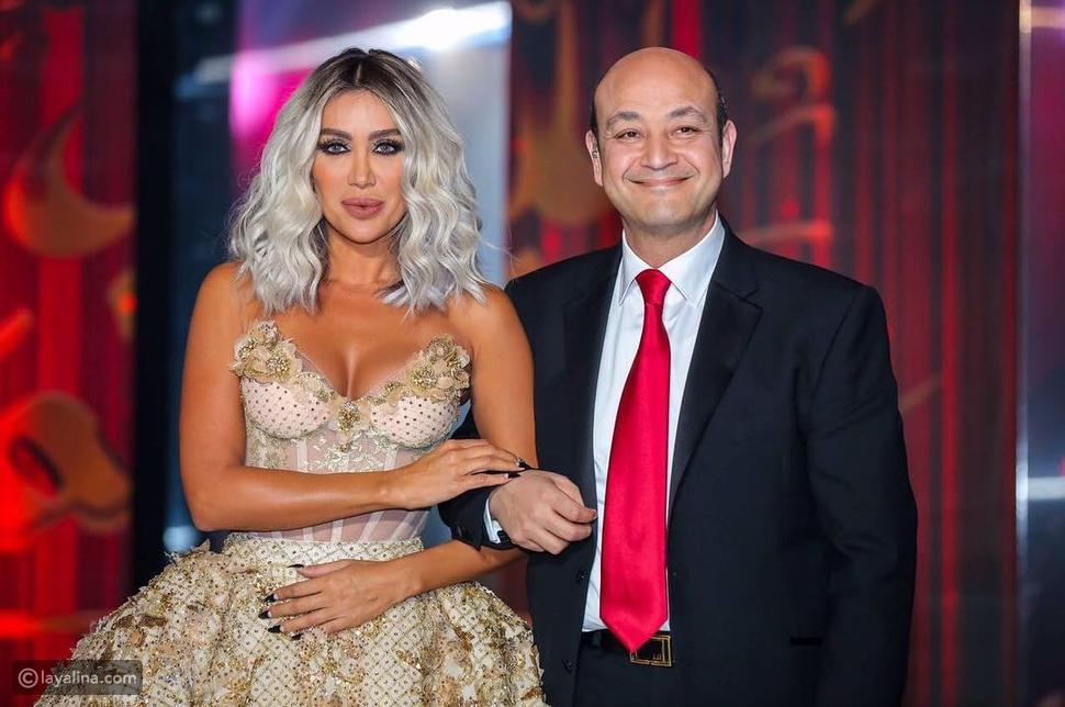 عمرو أديب ومايا دياب من حلقة رأس السنة