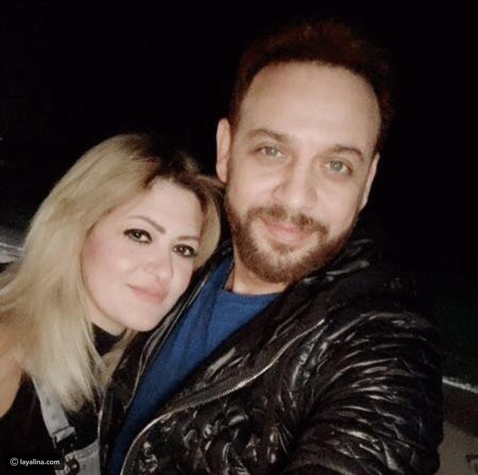 مصطفى قمر مع زوجته الثانية