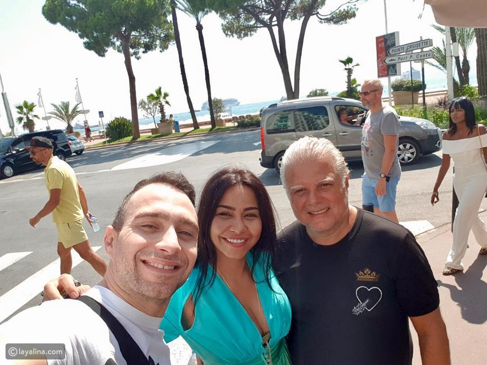 شيرين وحسام حبيب مع جان صليبا في فرنسا