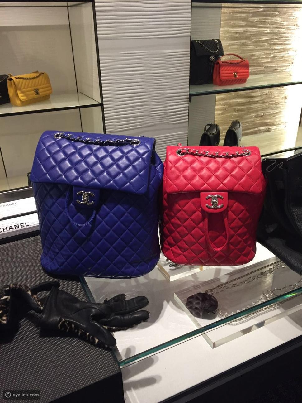 Pink Lambskin Chanel Backpack