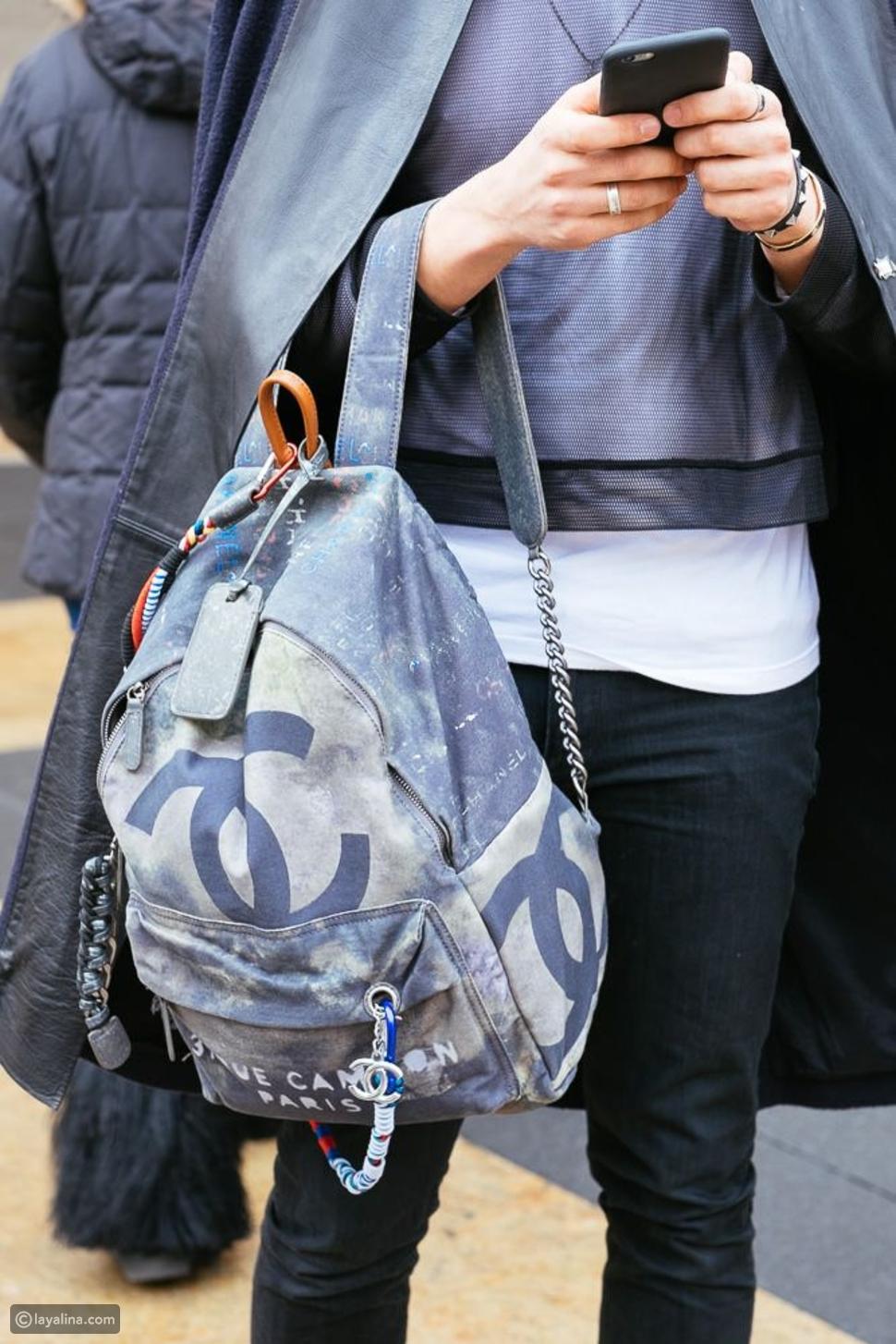 حقيبة شانيل جرافتيChanel Oh My Boy Graffiti Backpack