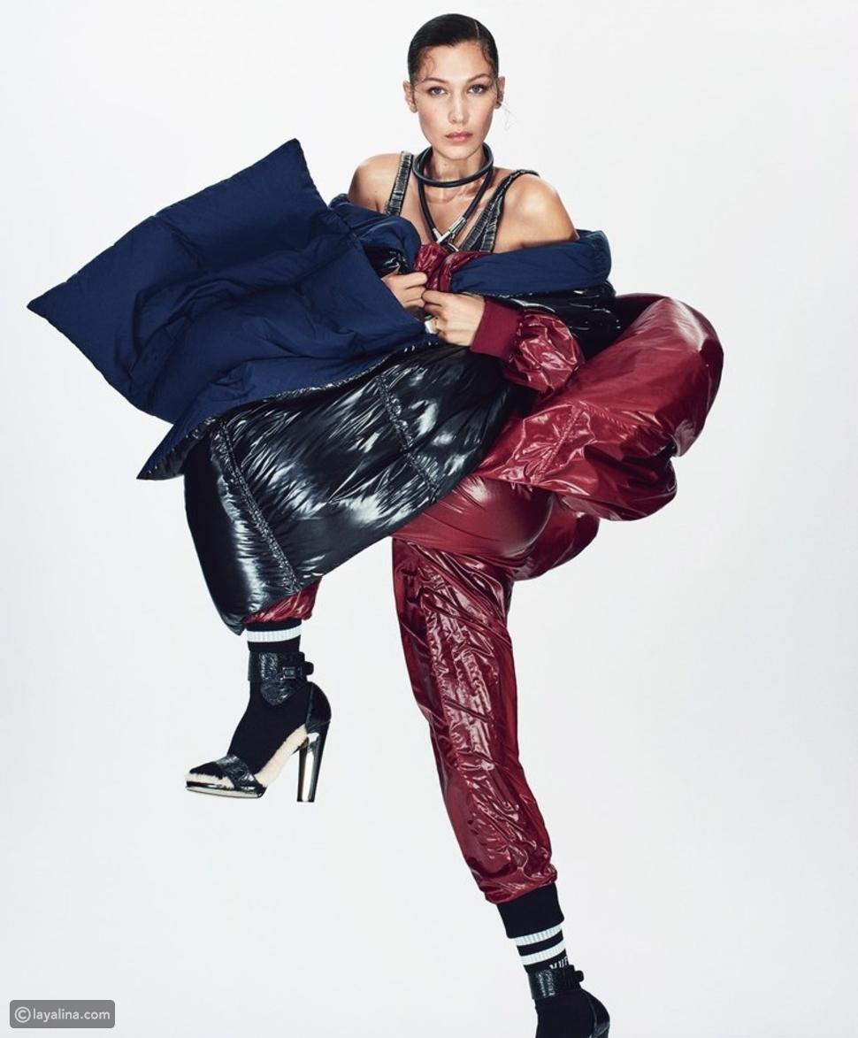 عارضة الأزياء بيلا حديد في مجموعة من أجمل الأزياء المستوحاة من رياضة الأولمبياد
