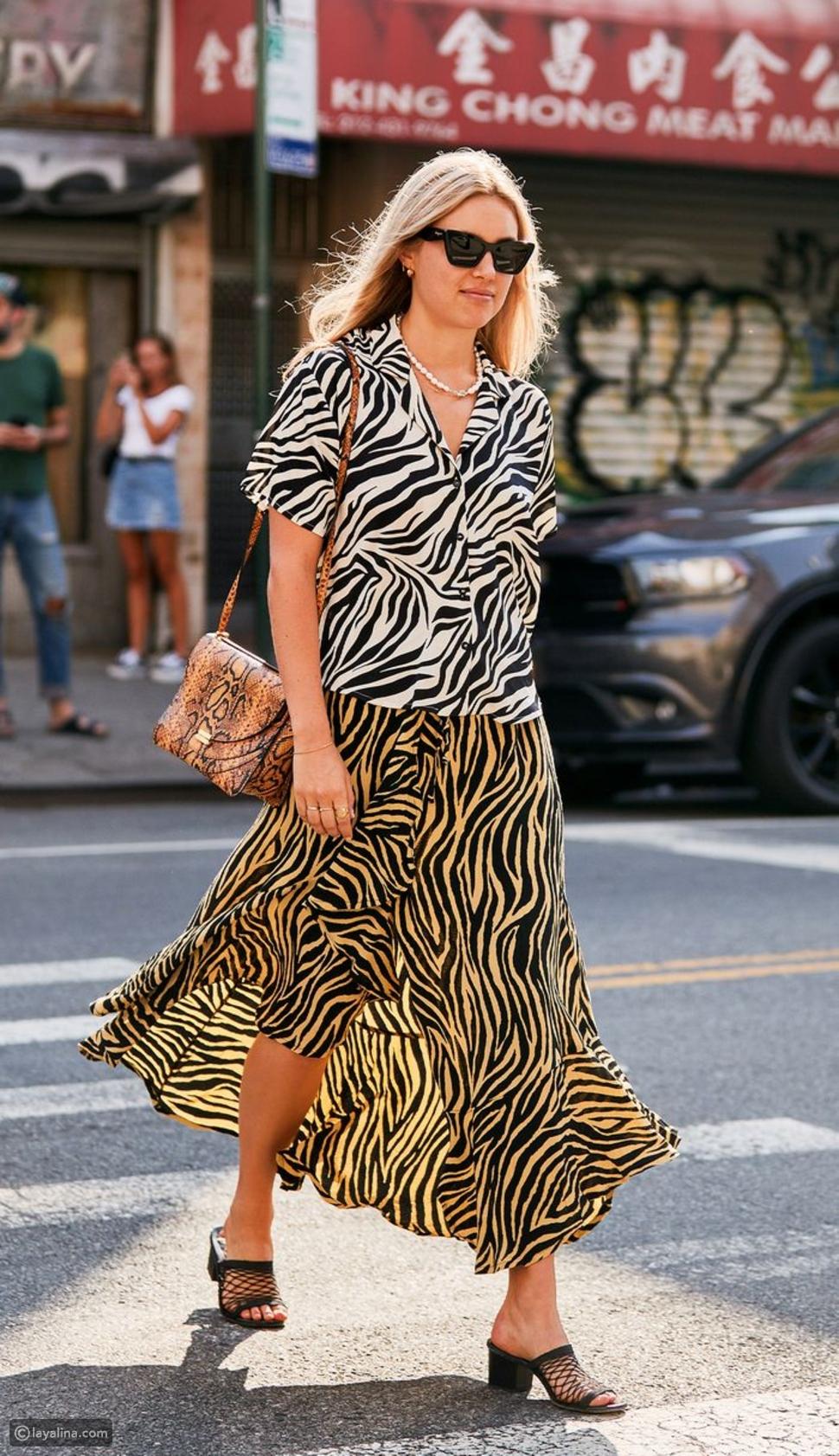 """نقشالحمار وحشي """"Zebra Print"""""""