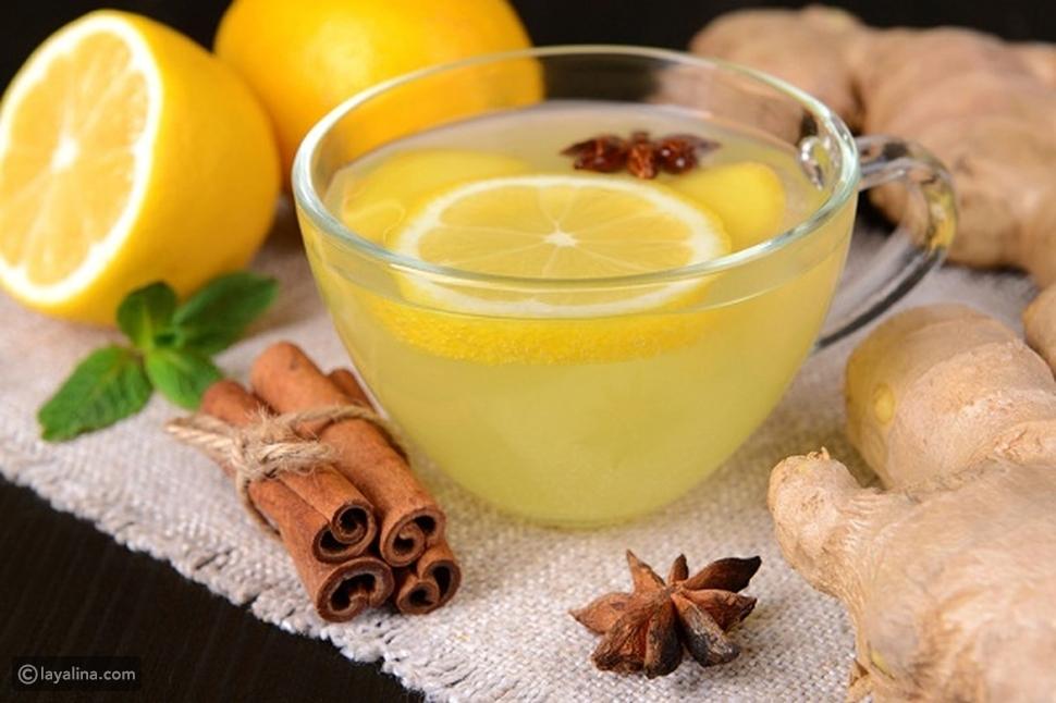 خلطة الزنجبيل والنعناع والكمون والشاي الأخضر