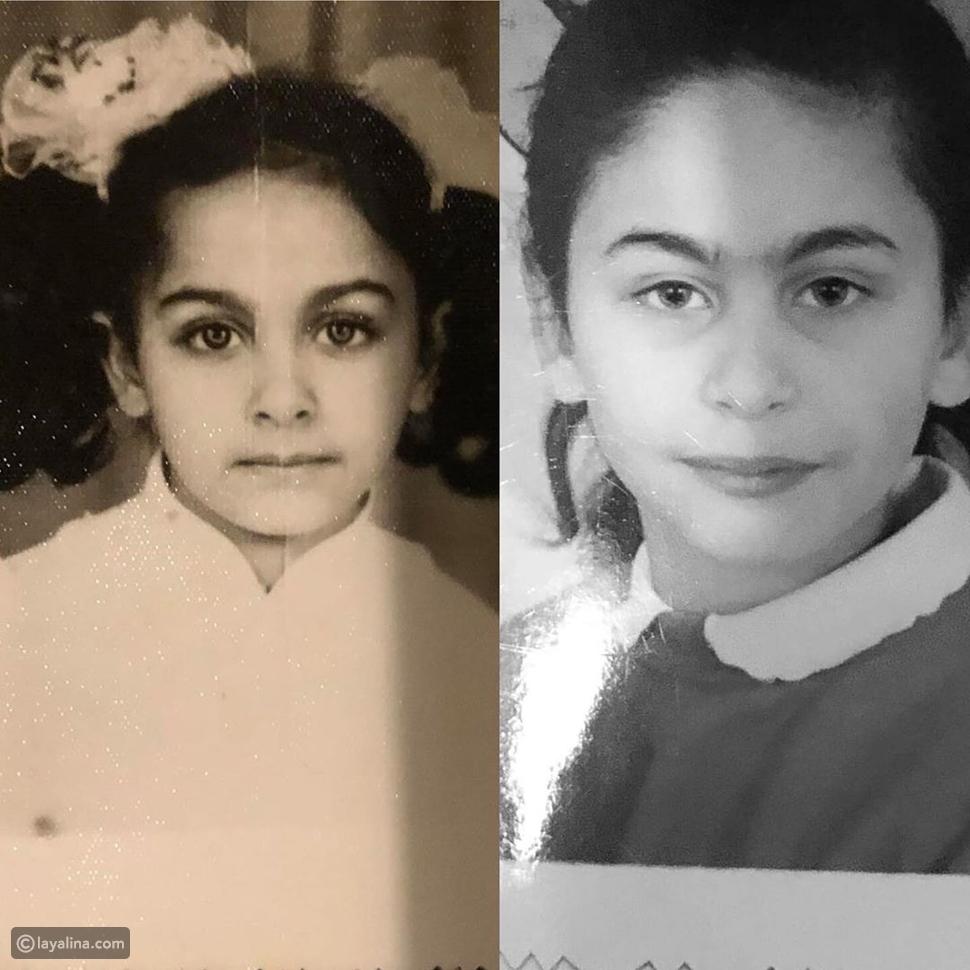 صورة مي سليم وميس حمدان من مرحلة الطفولة