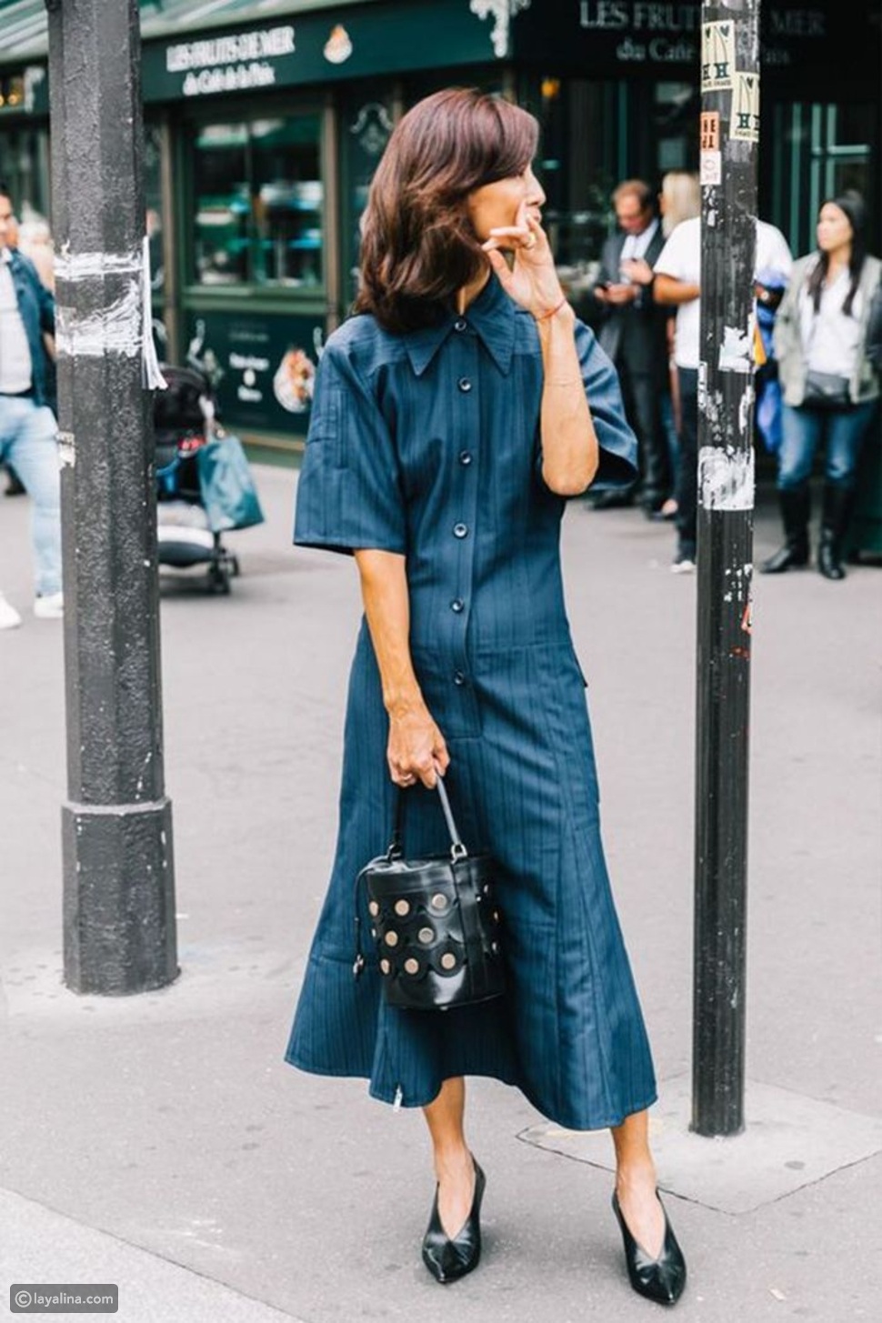 طريقة ارتداء الفستان الجينز