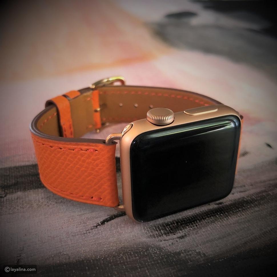 أساور هيرميس الجلدية44 مم Attelage Apple Watch Band